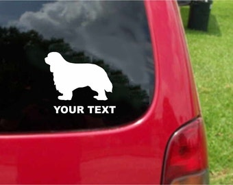 Set (2 Pieces) Newfoundland Dog   Sticker Decals with custom text 20 Colors To Choose From.  U.S.A Free Shipping