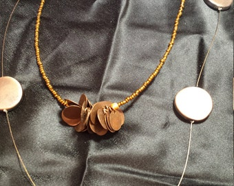 coppery Bronze dual layered necklace
