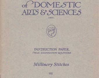 Digital Reproduction - Millinery Stitches Booklet