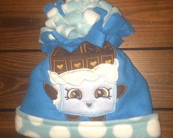 Character fleece hats, 2 layers, hand made