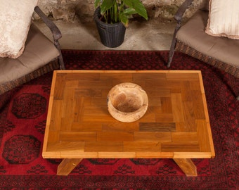 Mahuhu wood coffee table