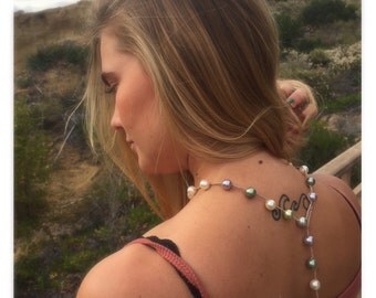 Pearl and Silk Thread Necklace
