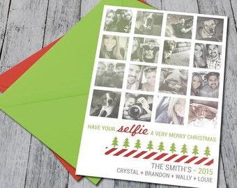 Instagram Themed Family Christmas Card (Printable)
