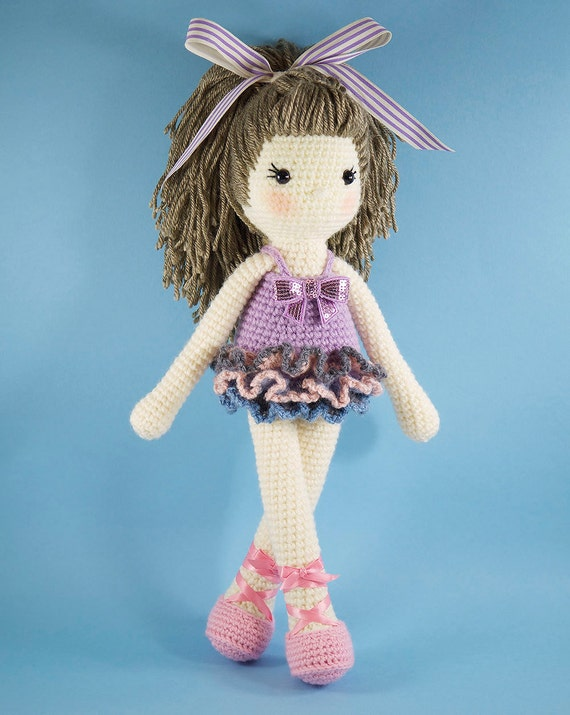 Amigurumi crochet doll Pretty girl doll in a by ...