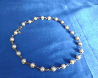 Mock Pearl Necklace, Made in Canada