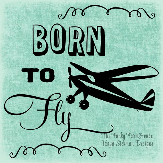 SVG, DXF & PNG - Born to Fly