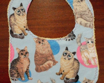 Cat Baby Bib / Infant and Toddler
