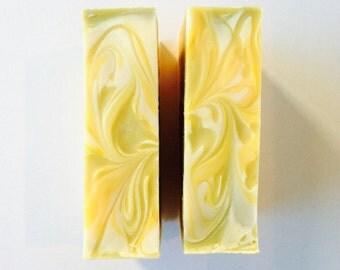 Lemongrass soap, organic soap, natural bar soap, essential oil soap, citrus soap, aromatherapy, Brooklyn soap, handmade soap, vegan