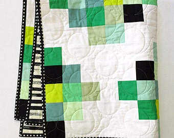Modern Graphic Quilt Etsy