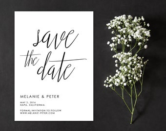 Save the Date, Calligraphy Save the Date, Romantic Save the Date, Handwritten Save the Date