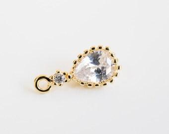 Water drop,Water drop charm,Water drop jewel,Water drop pendant, Jewelry,Pendants,charm,gift,cute supply,Simple,supplies,Unique pendant,cz