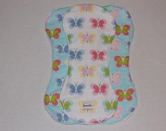 Baby burp cloths 3pk Butterfly