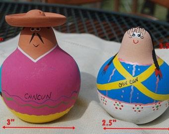 cancun Souvenir Salt & Pepper Set 2 Pc