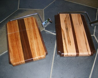 Mcm Hardwood Cheese Plate With Atomic Tile And Knife Circa