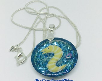 Under the Sea Eel Necklace, Resin Jewelry