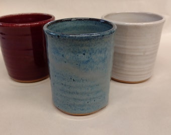 Custom Handmade Ceramic Bathroom Tumblers, Bathroom Accessories, Pottery  Juice Glass, Small Pottery Drinking