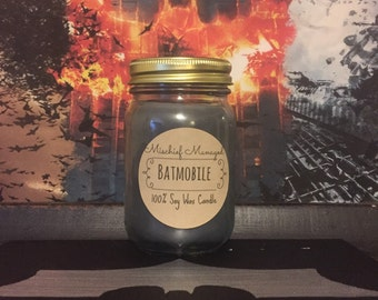 The Batmobile 100% Soy Wax Soy Candle