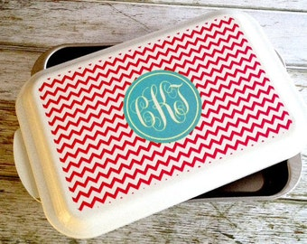 Design Your Own Casserole Dish / Cake Pan with Monogram.