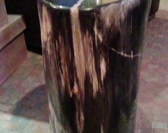 100% petrified wood table, entirely polished