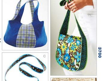 Kwik Sew sewing pattern K3700 Kwik Serge Bags and Clutch, 4 Styles - new and uncut