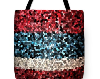 Red, White and Blue....Tote Bag by artist MPL