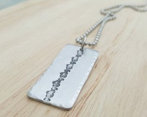 Men's dog tag necklace, bar pendant gift for him boyfriend husband, gift for graduation birthday or anniversary, handmade mens jewelry