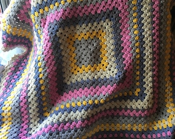 Crochet Afghan, Decorative Throw Blanket, Crochet Lap Blanket