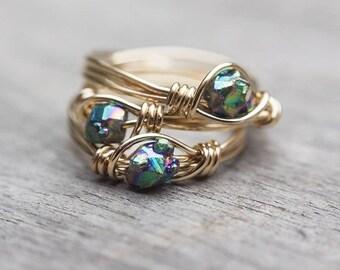 Titanium pyrite ring
