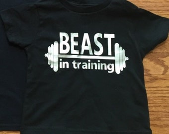 Beast in training shirt in baby, toddler or youth sizes