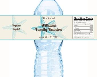 Family Reunion Water Bottle Labels, Family Reunion Favors,Reunion Favors, Family Tree, Reunion Decor, Reunion Party Favors, Beach Reunion