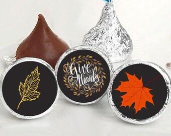 108 Hershey Kiss® Stickers, Thanksgiving Hershey Kiss Stickers, Thanksgiving Kiss Labels, Thanksgiving Favors, Thanksgiving Kiss Seals