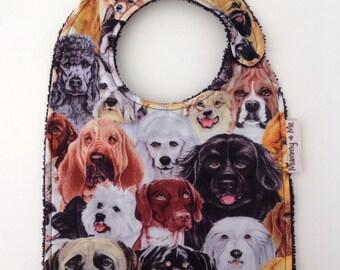 A Dogs Life / Bandana Bib / Pets / Puppies / Puppy / Pug / Frenchie / Baby Bib / Unisex Bib / Drool Bib / Dribble Bib / Animals