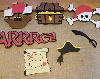 Pirate Theme Die Cut Set