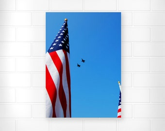 American Flag - Military Flyover - Photo Print - Patriotic Decor - American Flag Decor - Military Decor - Patriotic Wall Art - Military Art