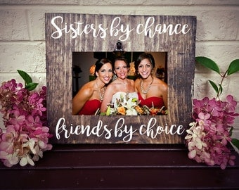 Sister Picture Frame, Sister Christmas Gift, Sister Birthday Gift, Rustic Picture Frame, Family Picture Frame