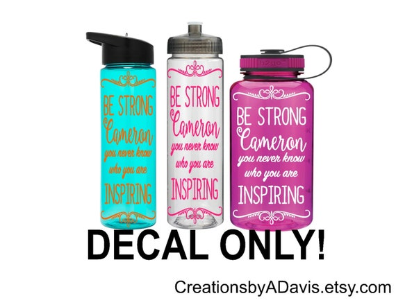 Motivational water bottle decal waterbottle decal motivational water bottle sticker water bottle vinyl