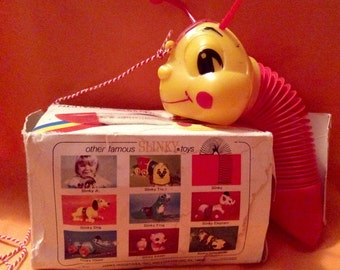 SLINKY WORM Pull Toy -  1955 in Original Box !