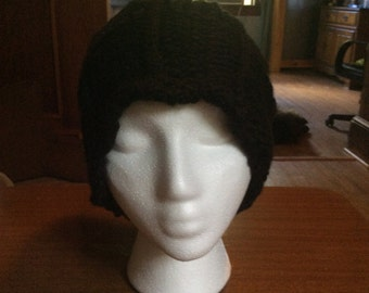 Black Lacy edged hat