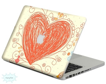 New heart decal mac stickers Macbook decal macbook stickers apple decal mac decal stickers