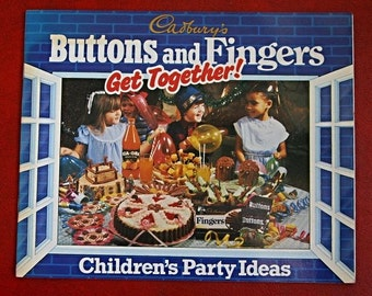 Cadbury's Buttons and Fingers Get Together!. Children's Party Ideas Booklet, 1980s