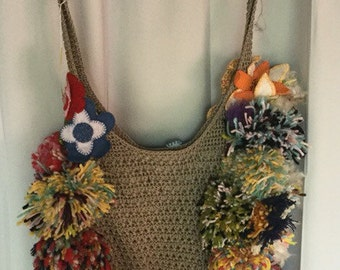 Up Cycled Designer Shoulder Bag, One Of A Kind