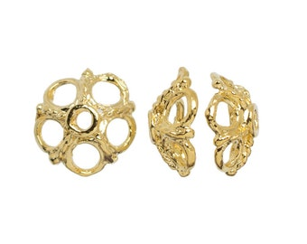 Cousin 14k Gold Plate 9mm Cap 4 per package
