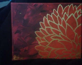 Red Flower decorative painting
