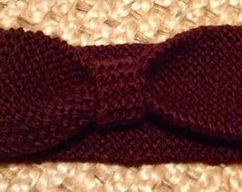 Knitted Brown Headband