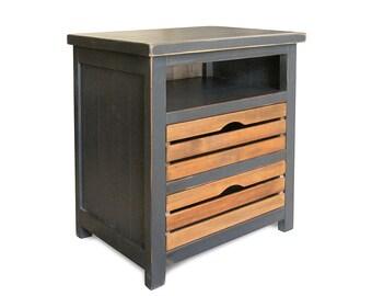 Nightstand, Bedroom, Reclaimed Wood, End Table, Handmade