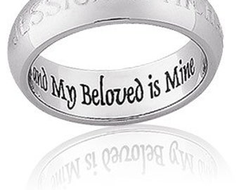 Custom ring engraving - include what you want in the note to seller