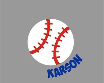 Baseball name decal. Personalized Baseball sticker.  Baseball Mom.