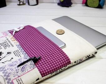 15 Macbook Sleeve, Pro Retina Case, Laptop Sleeve, Laptop Case, Violet laptop sleeve, Purple Macbook, Unique laptop sleeve, Gift for women