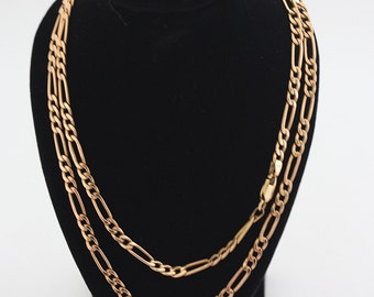 """9ct Gold Figaro Necklace 24"""""""