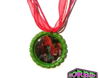 Miss Argentina Beetlejuice Red Organza & Cord Necklace